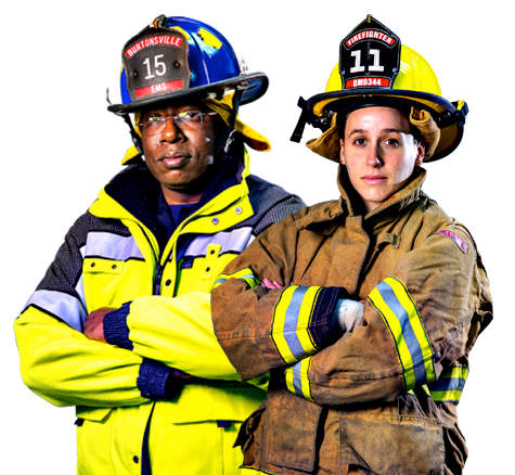Male And Female Firefighters