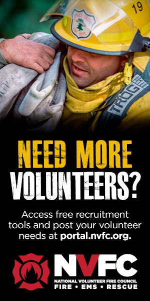 600x300 Banner Ad With Male And Female Firefighters For Placement On Partner Websites